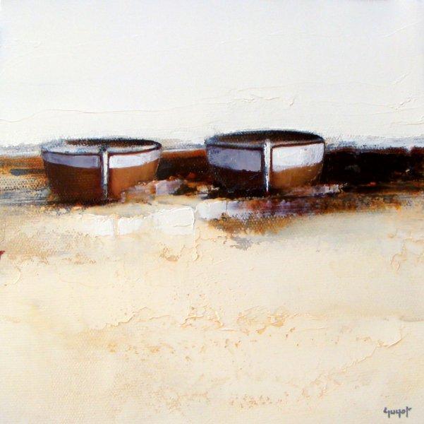 Barques sur le sable