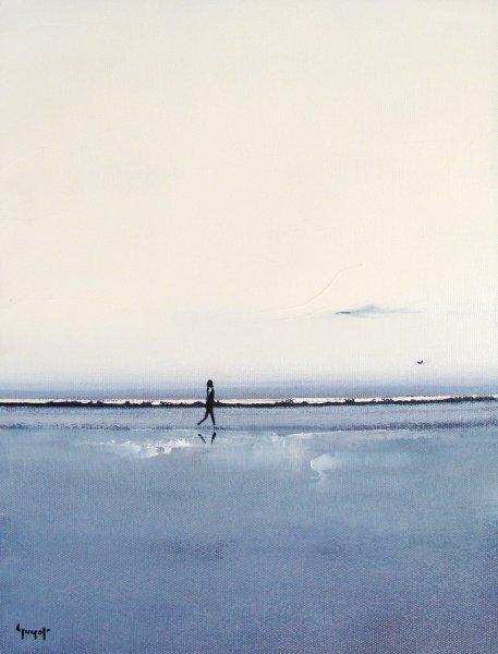 Marcheur en bord de mer